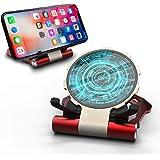 MQman アイアンマン ワイヤレス充電器 Qi 無線 充電スタンド ワイヤレスチャージャー 置くだけ充電 iPhone Xperia Galaxy スマホ かっこいい アルミ Androidスマートフォン 高速充電 Type-C ポット