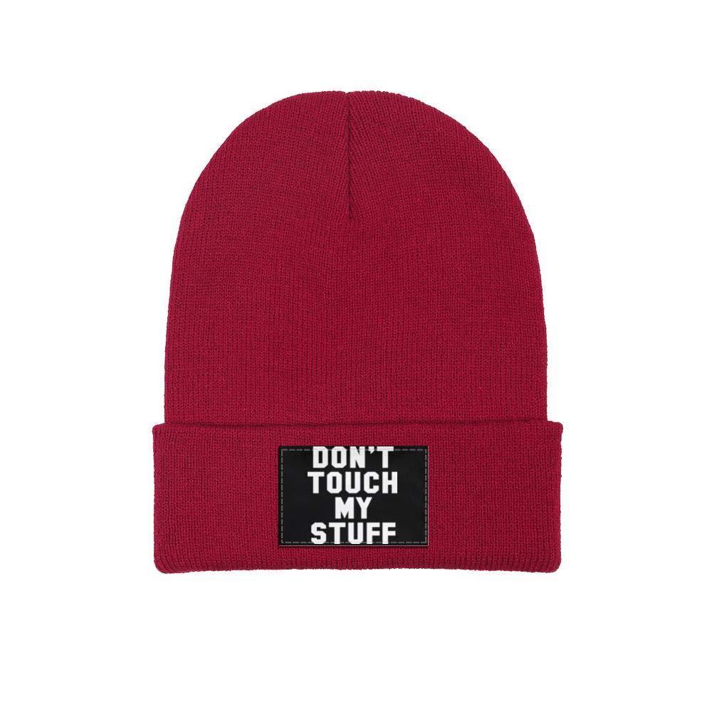 ONEYUAN Dont Touch My Stuff Unisex Knit Hat Warm Woolen Sport Ski Cap Outdoor