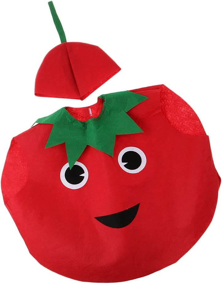 Traje Disfraz Tomate Vegetal Diseño de Cubierta Cuerpo Sombrero ...