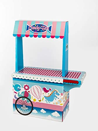 Candy Bar con Bandeja Vacío La Asturiana - Carrito de Mesa Dulce en Cartón Publicidad de Marca ...