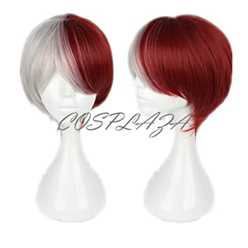 Amazon Com Cosplaza Cosplay Wig Silver White Red Anime Hair