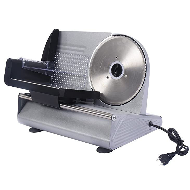 "Tangkula 7.5"" Electric Commercial Professional Deli Meat Slicer"