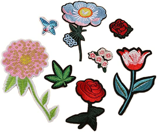 Sew On Flowers Patches Embroidered Patches Sewing Supplies Handcraft Trim