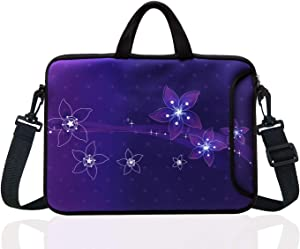 "15-Inch to 15.6-Inch Neoprene Laptop Shoulder Messenger Bag Case Sleeve For 14 14.1 15 15.6"" Inch Acer/Asus/Dell/Lenovo/Thinkpad/HP/Macbook Pro/Air (purple)"