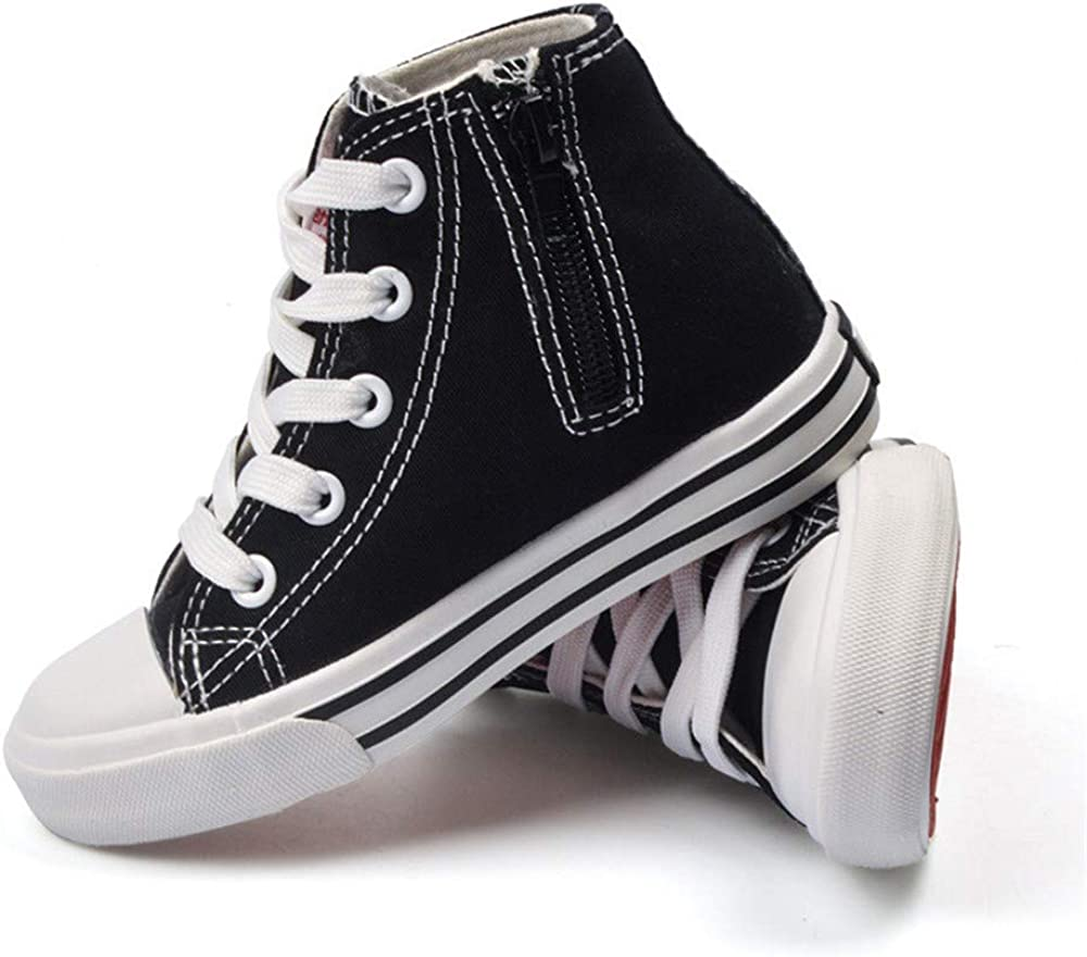 Toddler//Little Kid//Big Kid MODEOK Cool Kids Sneaker High Top Canvas Shoes for Girls Boys