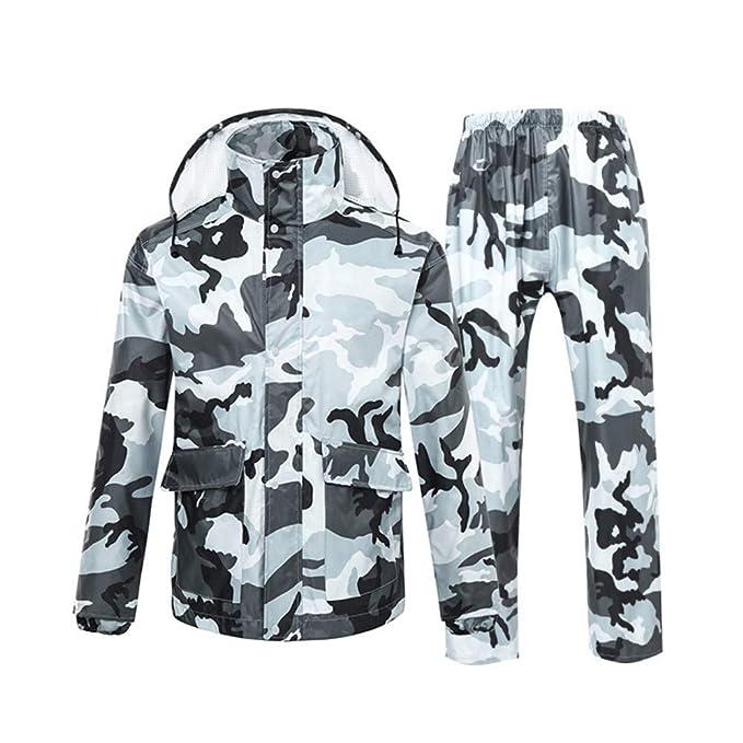 HONG-Rain Pantalones Impermeables para Lluvia Traje de Moto ...