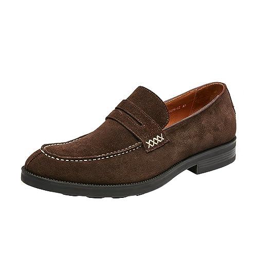 4810d33bd94 KINGSTEP Men s Suede Leather Slip-On Penny Loafer (8