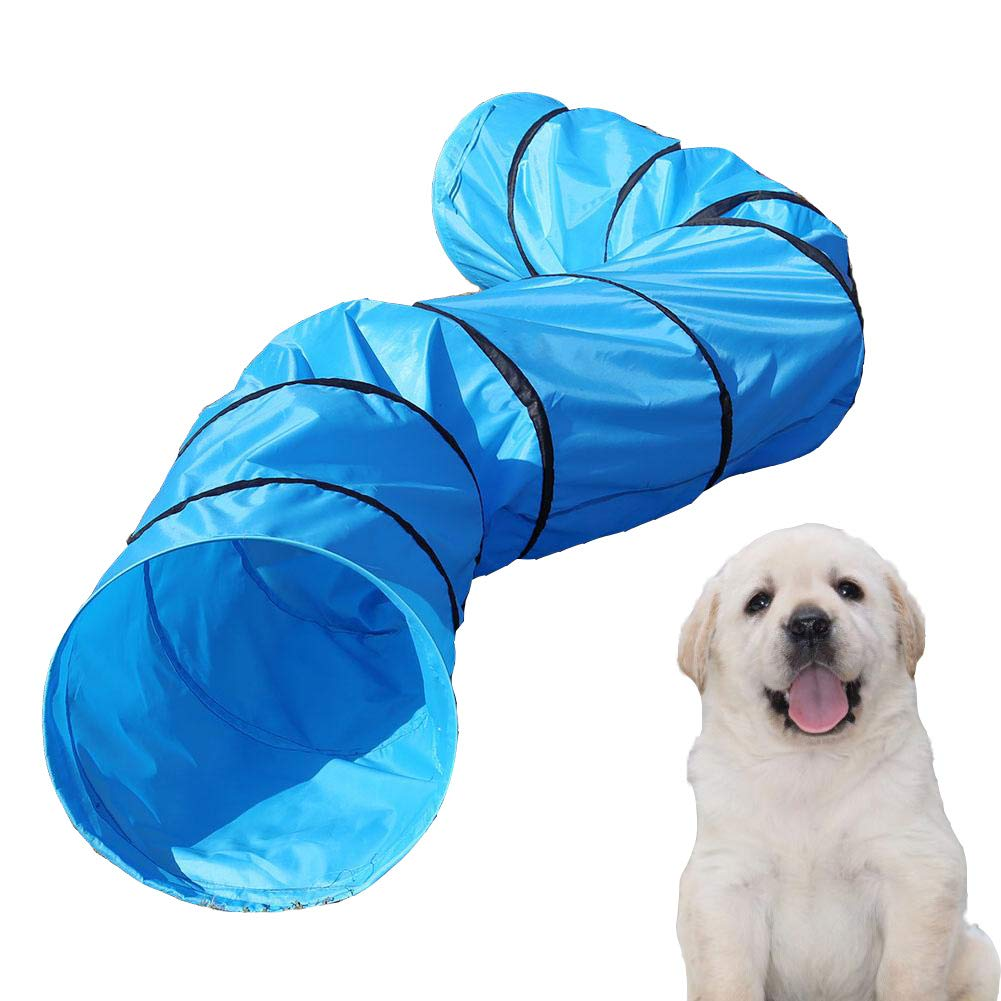 Cocoarm Pet Tunnel, Portable Foldable Pet Play Tunnel, Playing Tube Agility Training Exercise for Dog Rabbit Kittens Puppies 16 inch Diameter 13FT Length by Cocoarm