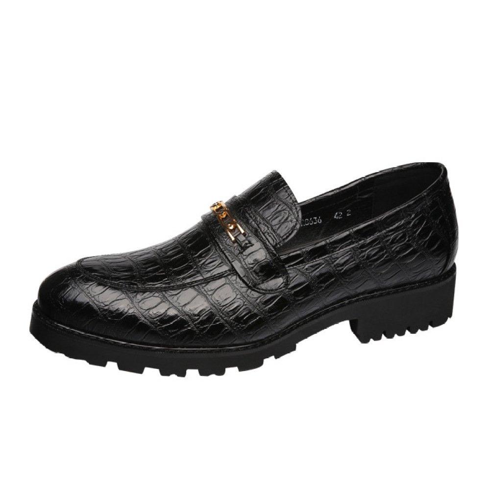 LQV Los Zapatos De Los Hombres Nuevos Zapatos Casuales De Moda De Tendencia Versión Coreana De Los Gruesos Zapatos Antideslizantes Resistentes Al Desgaste 42 EU|Black