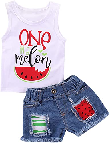 Toddler Baby Girl 4th of July Clothes Outfits Set Tassel Vest Denim Shorts Pant