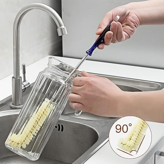 Angled Design Hook Uzepi Long /& Short Bottle Cleaning Brush Set Comfort Handles