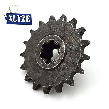 XLYZE T8F 17Tooth Front Embrague Tambor Caja de engranajes Piñón de cadena de piñón para 2 tiempos 47cc 49cc Mini Baby Crosser Dirt Bike: Amazon.es: Coche y ...