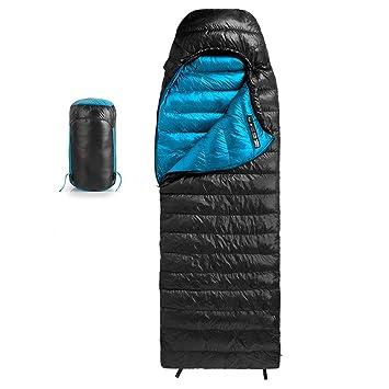 Mummy Sleeping Bag LIUSIYU 400 de Ganso Abajo Saco de Dormir de Momia, 3-