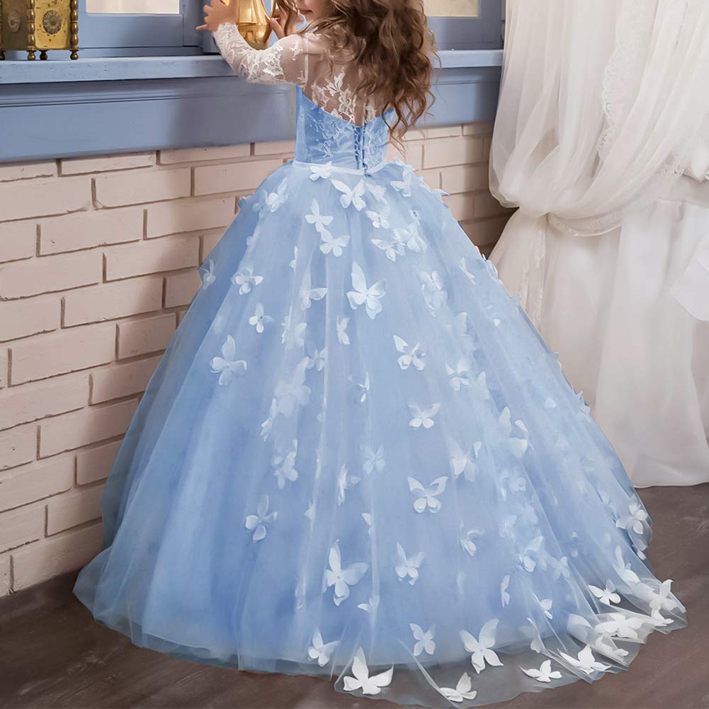 Vestido de ni/ña de flores para la boda Ni/ñas Ni/ños Largo Gala cumplea/ños Encaje De Ceremonia Fiesta Elegantes Comuni/ón Paseo Baile Pageant Damas De Honor Coctel Vacaciones Noche Vestido De Princesa