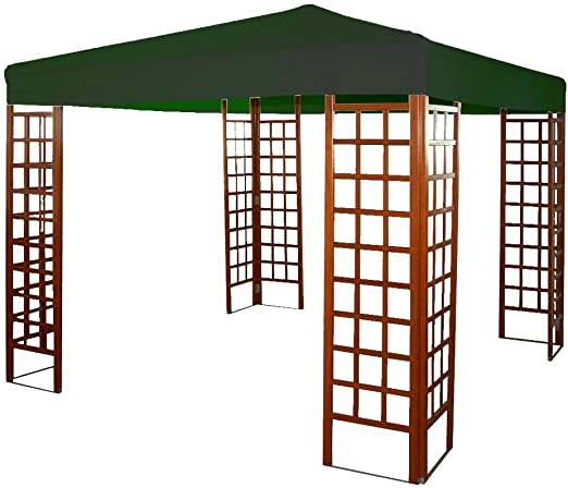 Jardines del Rey 16754 Tela de Repuesto para cenador, 300 x 300 x 2 cm, Verde: Amazon.es: Jardín