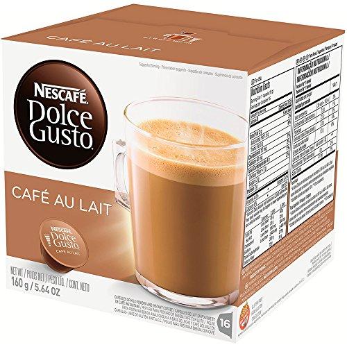 NESCAFÉ Dolce Gusto CAFÉ AU LAIT  (16 cápsulas/16 Tazas)
