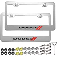 Carsport 2 Pcs Premium Aluminum Alloy License Plate Frame fit D0DGE, for D0DGE Tag License Plate