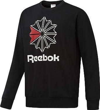 18b383e5b28d Reebok - Sweat AC Ft Big Starcrest Crew Dm5161 Noir  Amazon.fr  Vêtements  et accessoires
