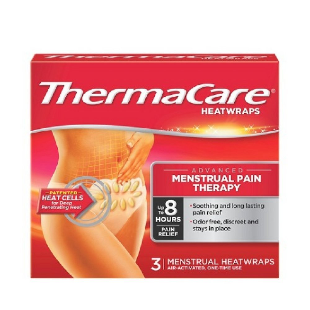 ThermaCare Air-Activated Heat Wraps, Menstrual Pad 3 per Pack