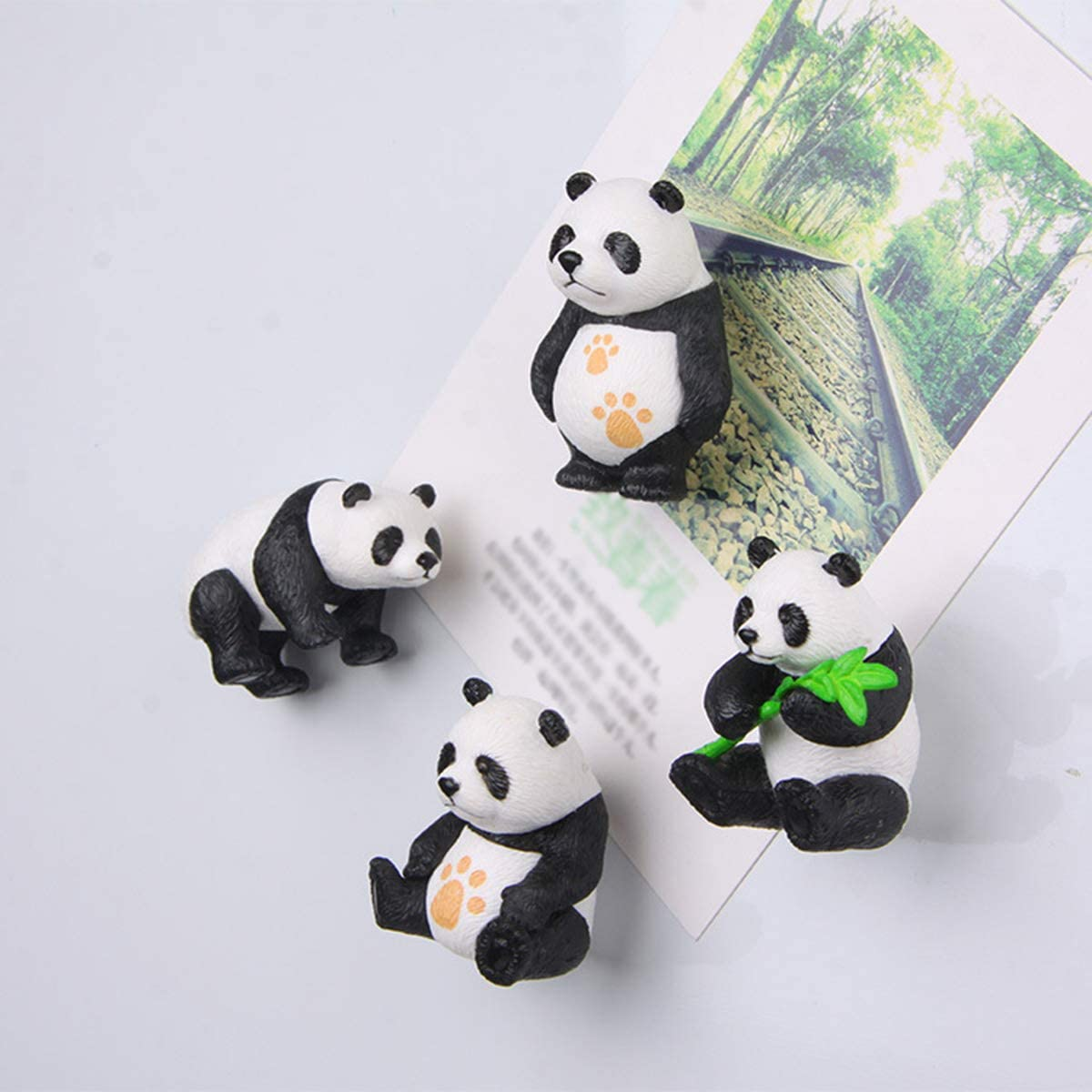 Decorative Refrigerator Magnets, Perfect Fridge Magnets for House Office Personal Use (4Pcs Pandas 3)