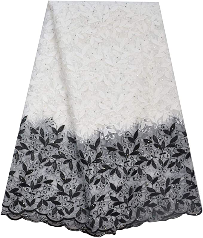perfect for a Nigerian wedding. Latest African Lace Fabric embroidered net  milk lace