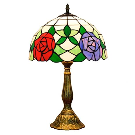 Amazon Com Gaoliqin Tiffany Style Table Lamp Creativity Stained