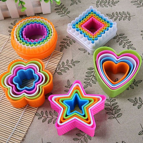 Saasiiyo 1 Set Cookies Cutter Frame Cake Mould DIY Star Tree Round Heart Flower Mold Cookie Maker (Party City Locations Nyc)