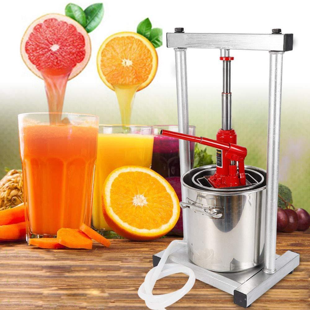 Steel Fruit Press Cider Grape Crusher Juice Maker Fruit Crusher Fruit Grinder Silver US Warehouse by TFCFL