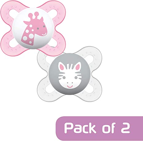 Pack of 2 Designs may vary MAM Start Soother 0-2 Months In Steriliser Box