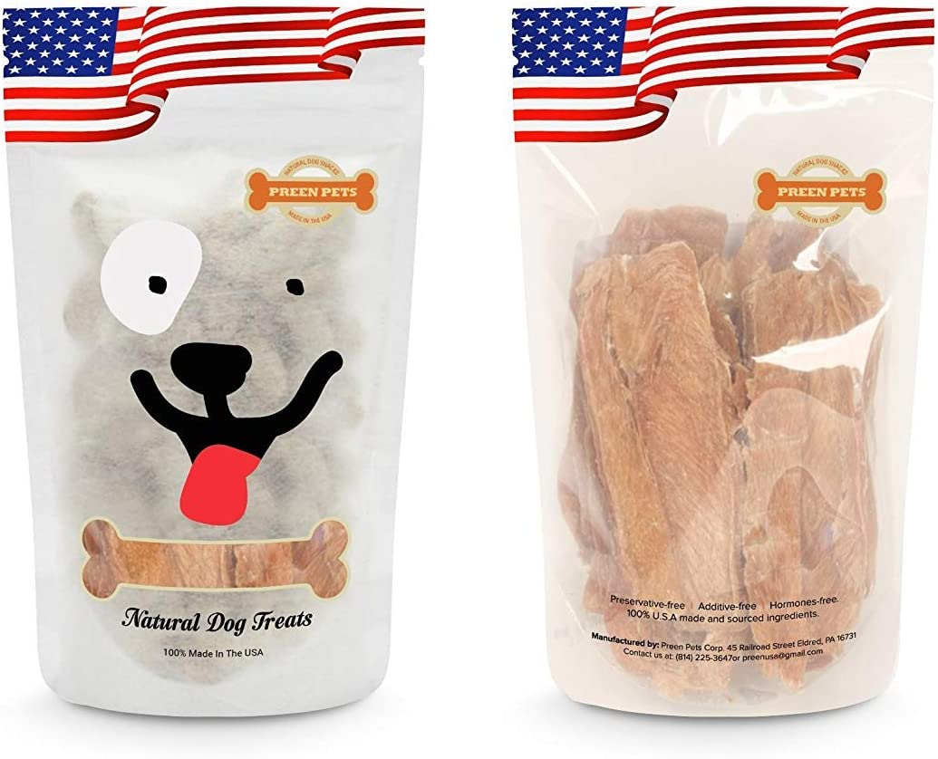 Preen Pets Chicken Breast Jerky Dog Treats – 100 USA Lean Chicken Breast