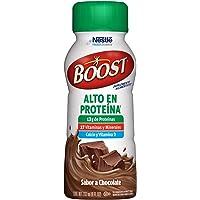 BOOST Alto en Proteína, Sumplemento Alimenticio, Chocolate, 237ml, 24 piezas