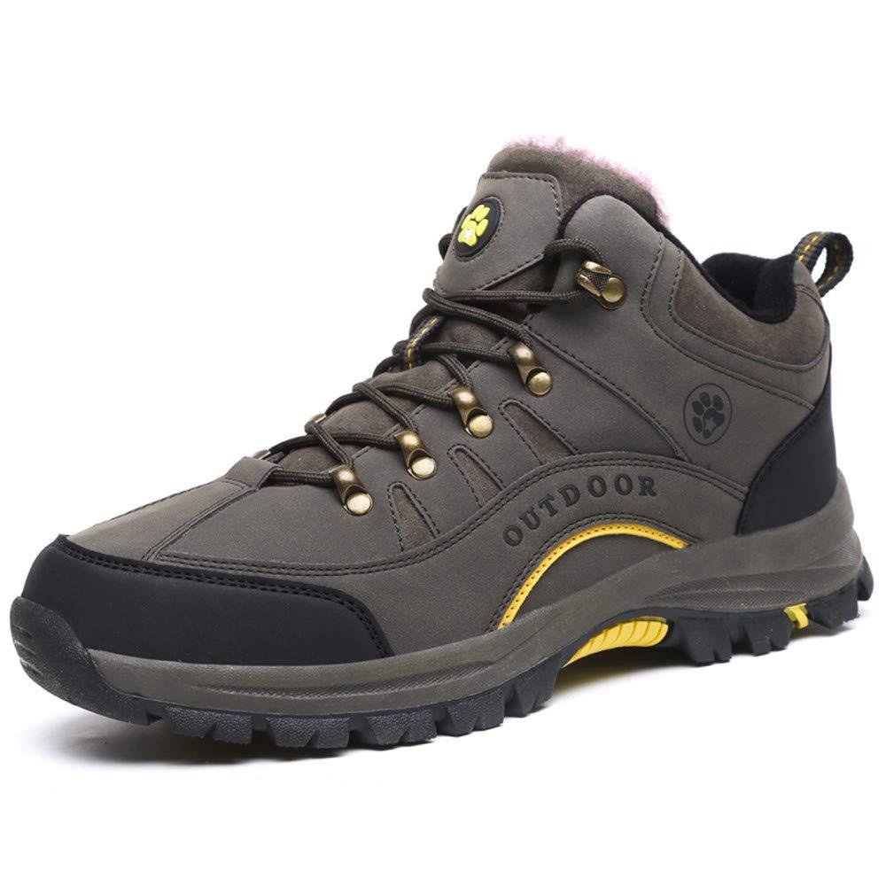 Dacawin Women's Walking Shoes Waterproof Non-Slip Cross-Tied Plus Cotton Warm Outdoor Hiking Shoes