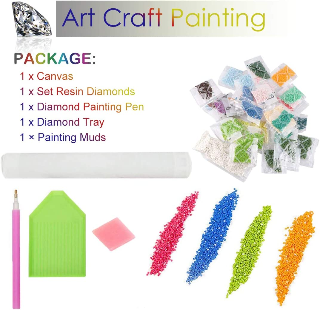Diamond Painting Stickerei Kunsthandwerk f/ür Home Wall Decor 40 SULISO 5D Diamant Malerei Kits f/ür Erwachsene Kinder 40CM