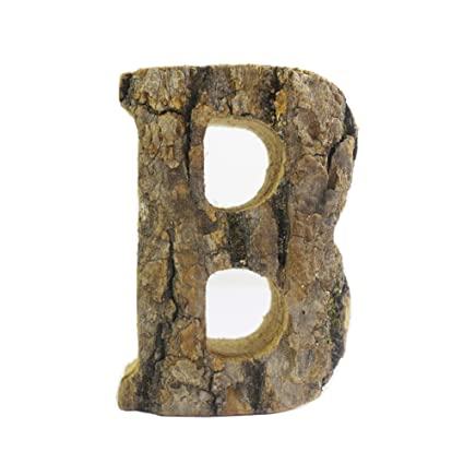 Vintage Wood Alphabet Letter Wall Decor Sign Wooden Letter Hanging Wall  Decor (B)