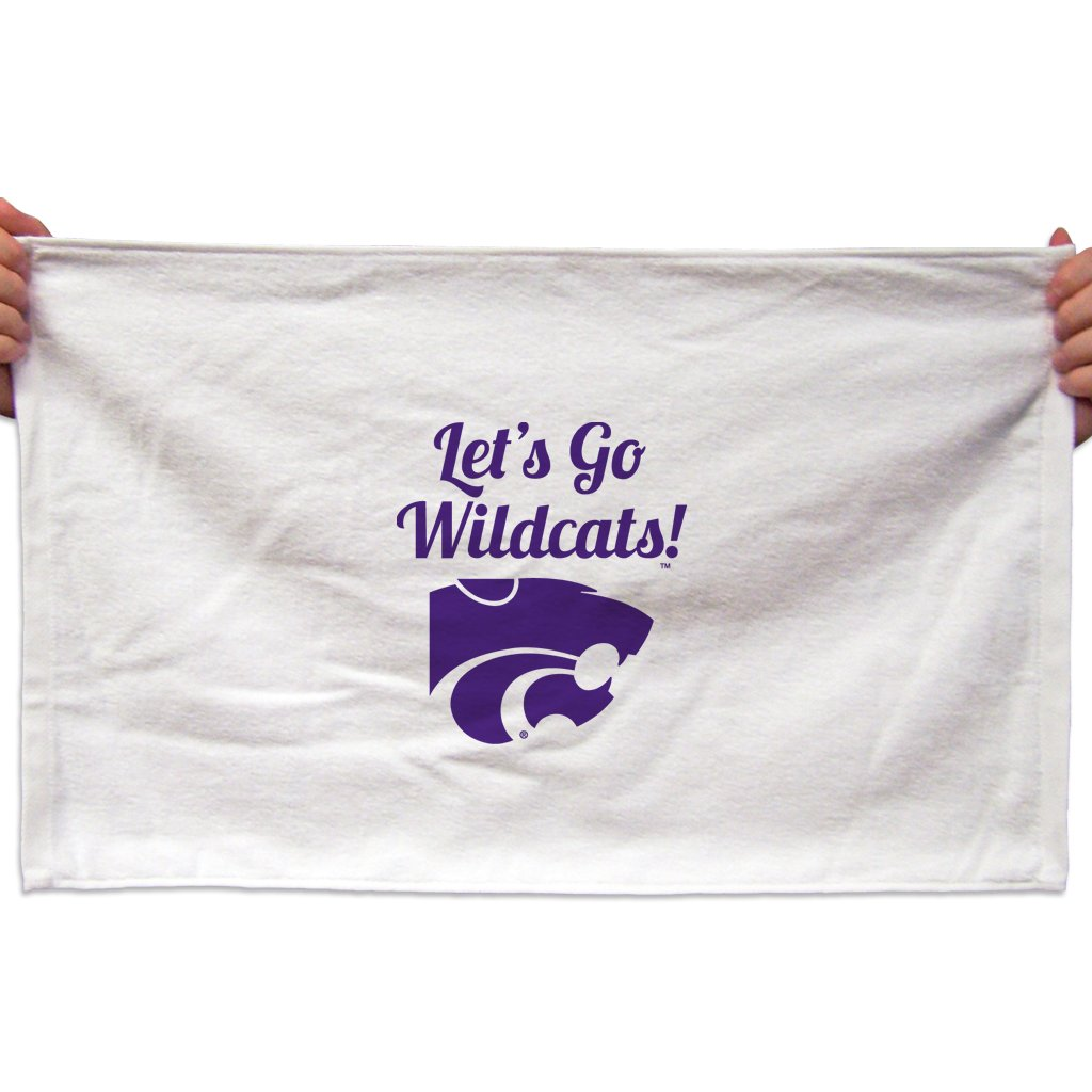 """VictoryStore Towels - Kansas State Rally Towel, """"Let's Go Wildcats"""", Set of 3"""