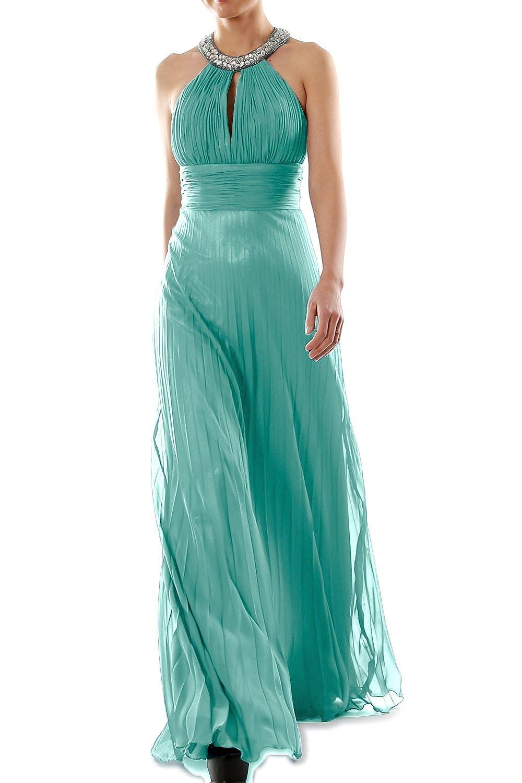 MACloth Women Crystal Halter Chiffon Long Prom Gwon Formal Evening Party Dress