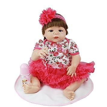 Suave vida niña muñecas 23 pulgadas 57 cuerpo entero silicona vinilo recién nacido realista bebés juguete
