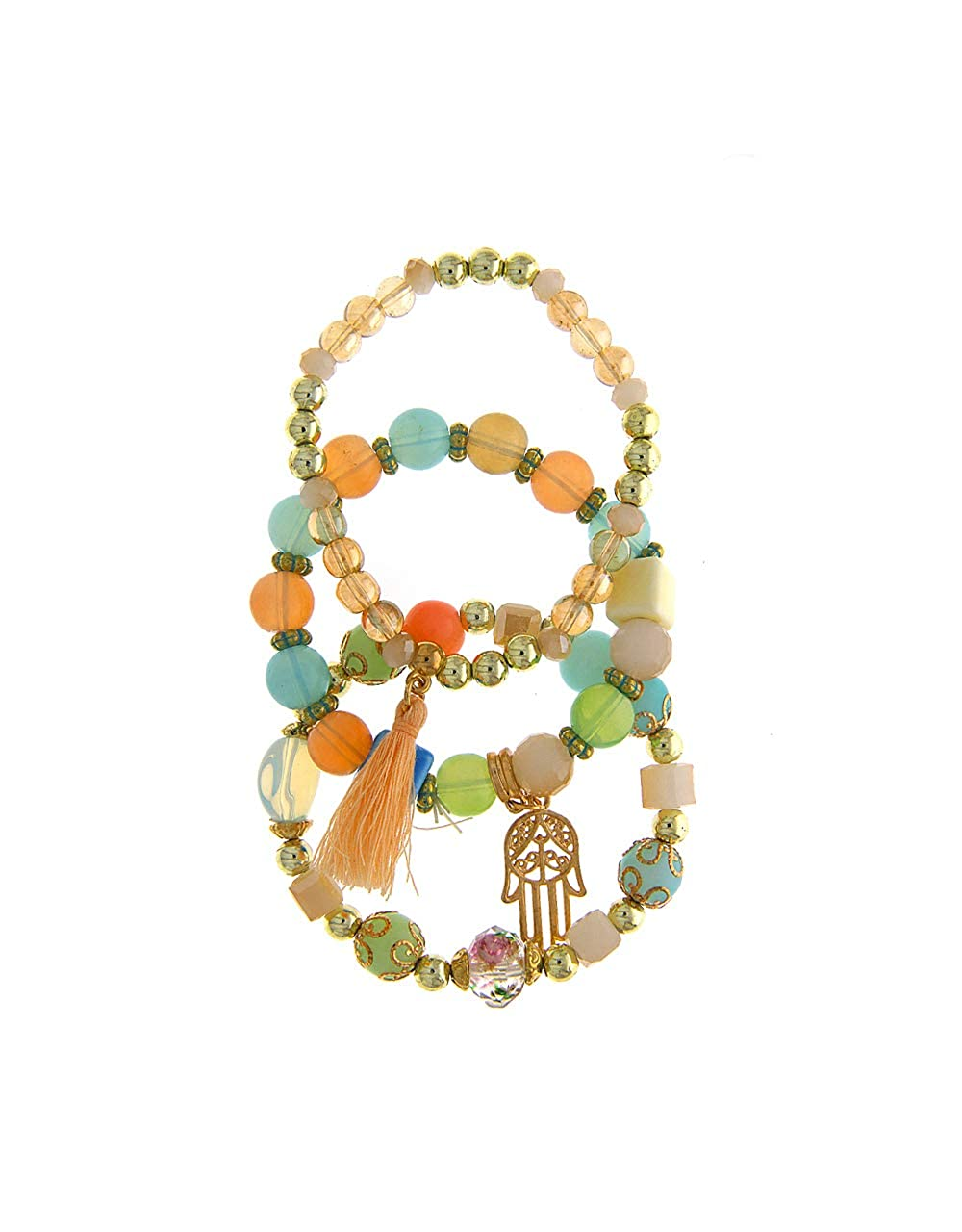 Anuradha Art Multi Colour Styled with Beads Moti Bracelets for Women//Girls