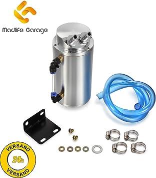 Madlife Garage Universal 750ml Öl Auffangbehälter Filter Catch Tank Ölsammler Ölsammelbehälter Ölbehälter Auto