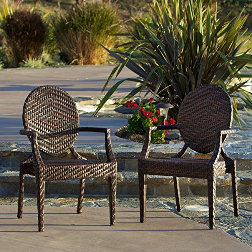 Adriana PE Wicker Outdoor Chairs (Set of 2) by Christopher Knight Home price