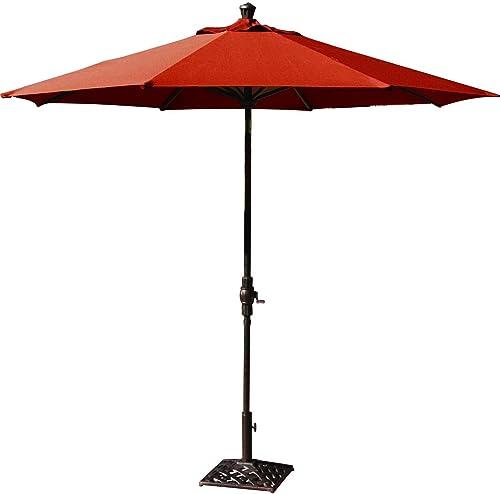 Darlee 9 Ft. Aluminum Auto Tilt Patio Market Umbrella