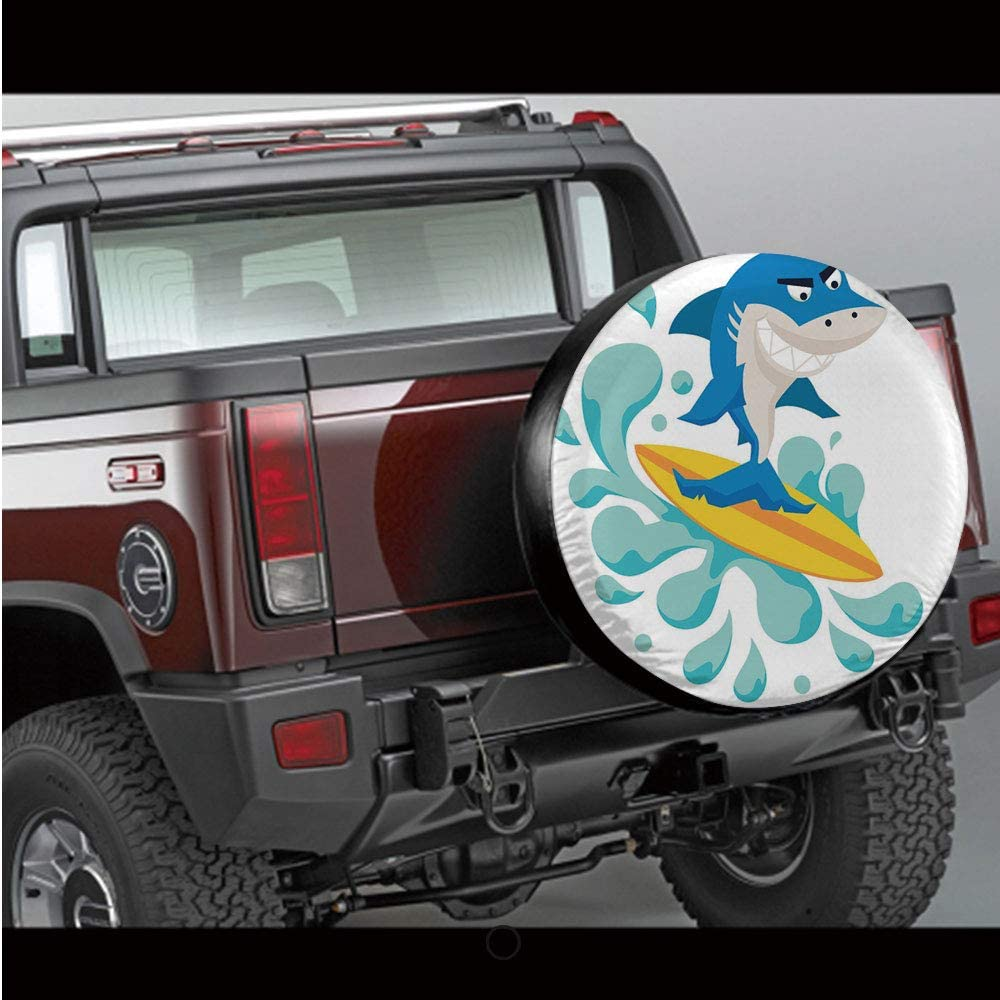 RV Spare Tire Cover,Ethnic Cultural Striped Boho Motif Traditional Southwestern First Nations Artisan Design,Multi,for Jeep,Trailer SUV and Many Vehicle 14 15 16 17