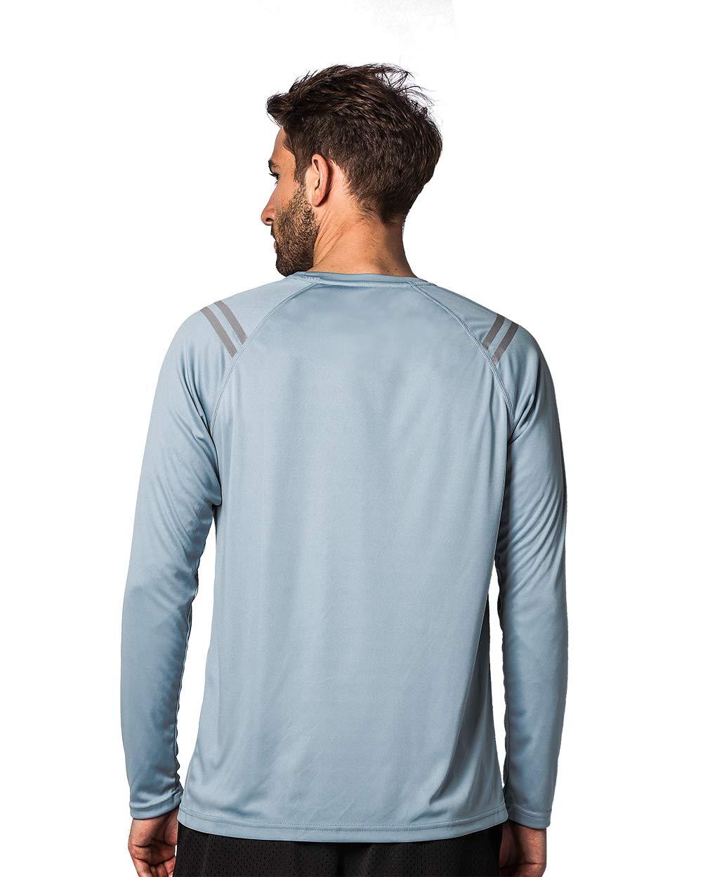 Ogeenier Camicie a Maniche Lunghe da Uomo UV Protezione Solare Atletica Surf Turismo Camping Walking T-Shirt Running UPF50