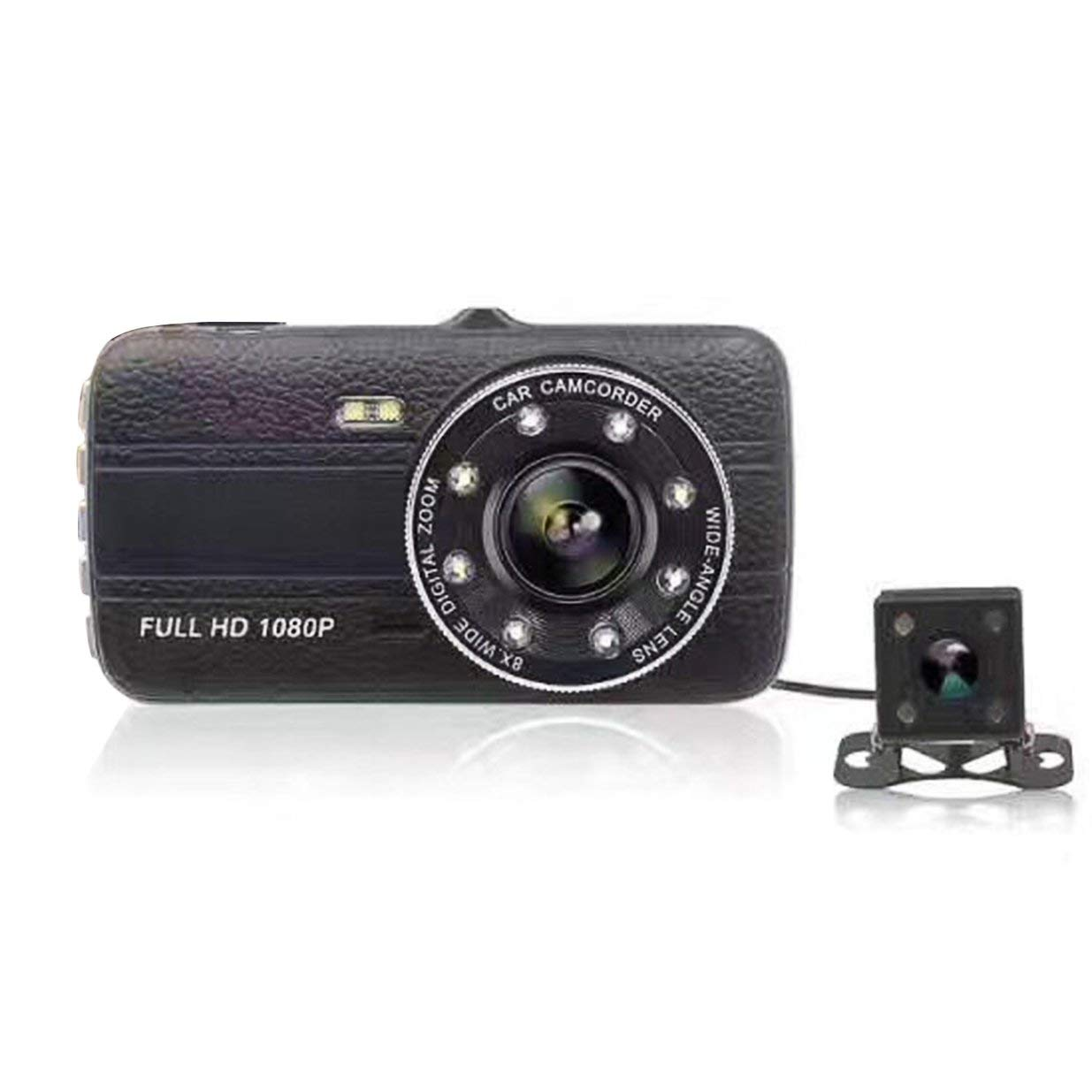 banbie8409 1080P Car Video Recorder 4-Inch Display Dual Lenses Camera With Night Vision