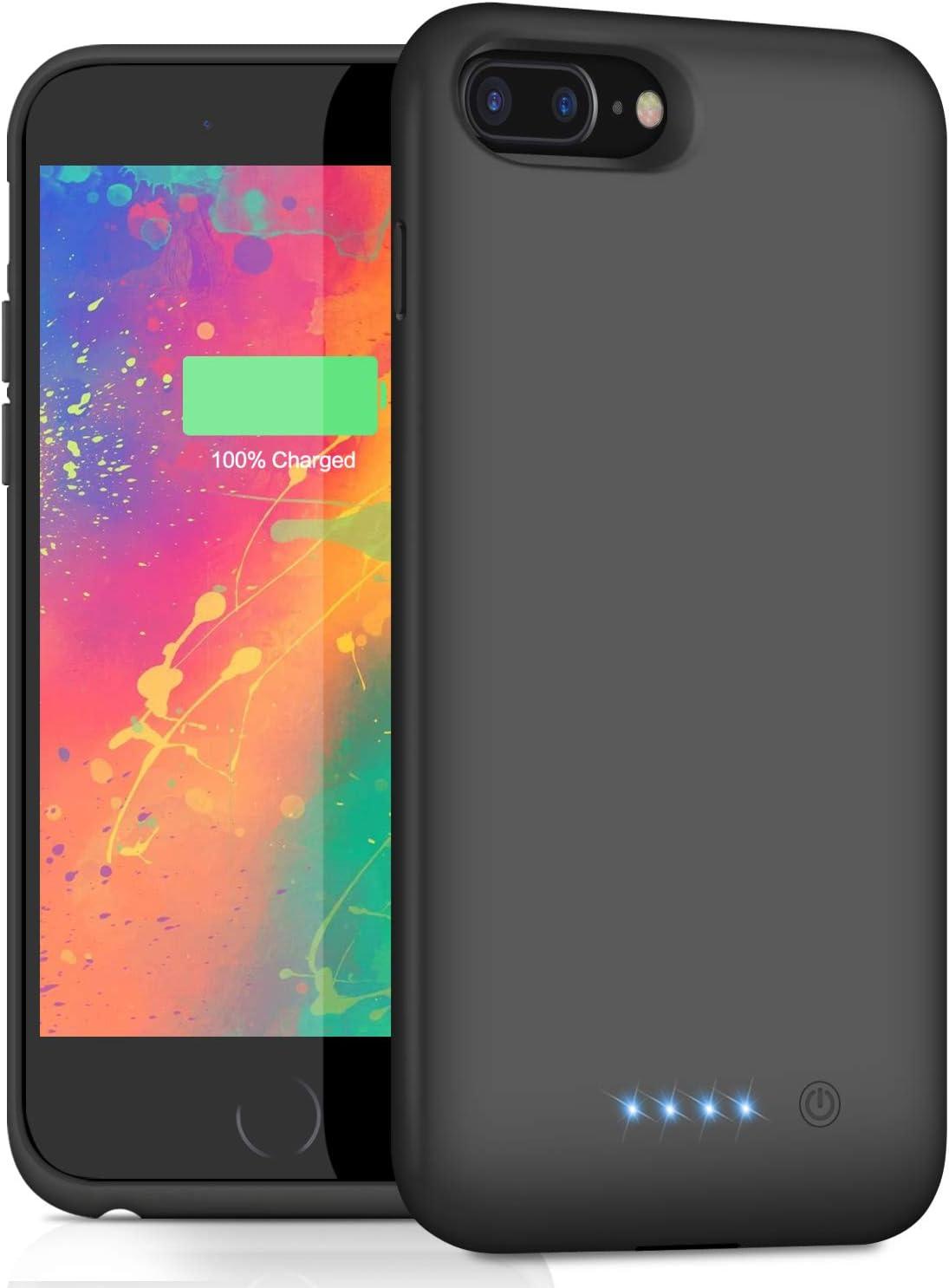 Amazon Com Battery Case For Iphone 8plus 7plus 6s Plus 6plus 8500mah Upgraded Portable Charging Case Rechargeable Battery Pack For Iphone 8plus 7plus Charger Case For Iphone 6splus 6plus 5 5 Inch Black