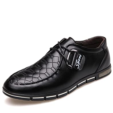 Shoes Men's Shoes Spring Fall Formal Shoes For Office & Career Party & Evening Blue Brown Black (Color : Black Size : 39)