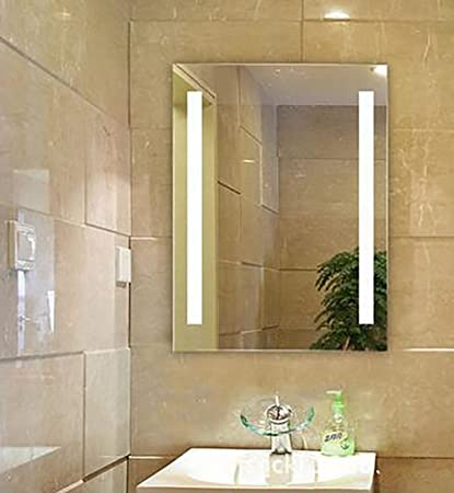 Amazon.com: Siminda LED Frameless Bathroom Wall Mirror Illuminated ...