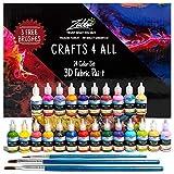 Fabric Paint 3D Permanent 24 Colors Set Premium