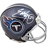 Eddie George Autographed Tennessee Titans VSR4 Mini Football Helmet - BAS COA (Silver Ink) photo