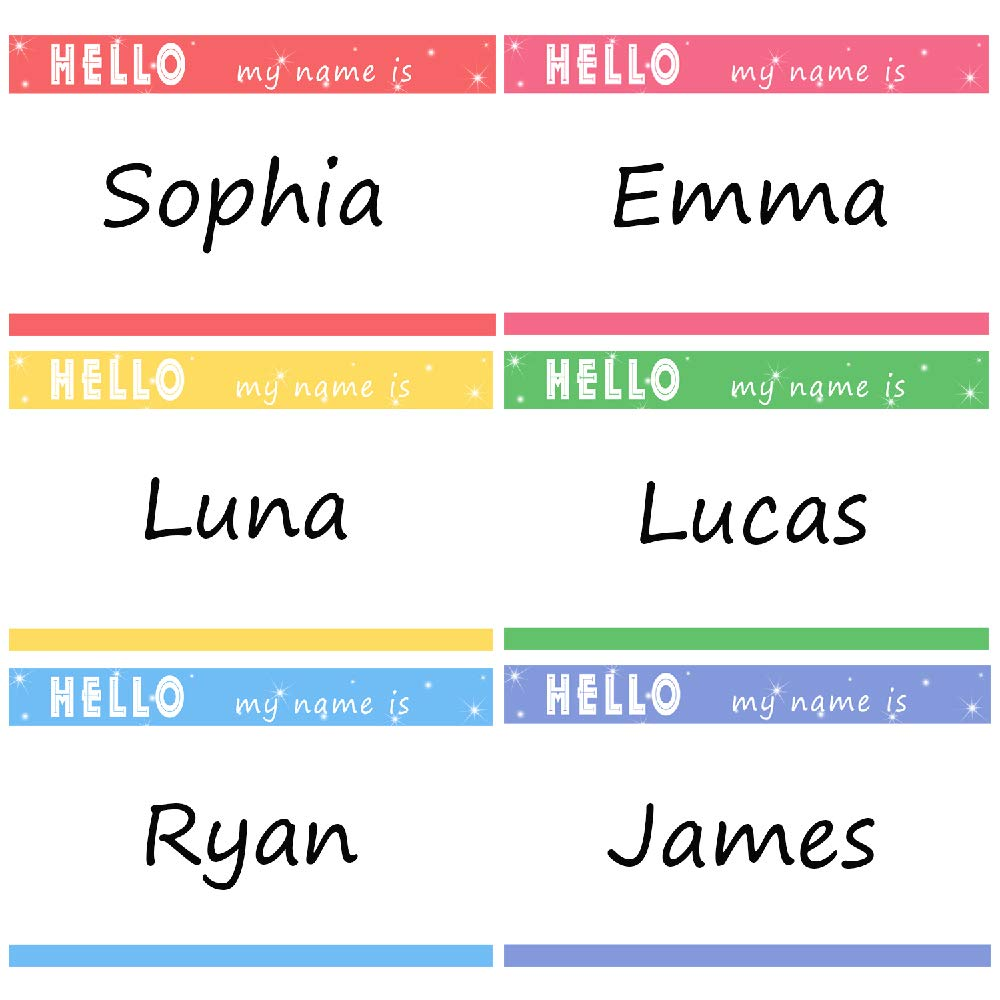 Name Labels Tags Hello My Name is Stickers for Office School Home Classroom Party Decorations, 500 Pcs